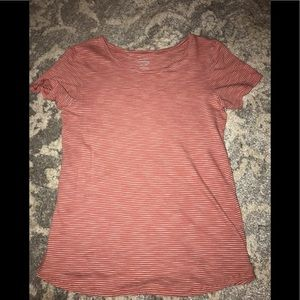 Old Navy Pink and White Striped Shirt